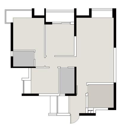 典雅97平美式三居设计图