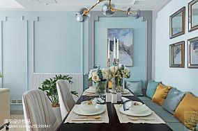 精选美式三居餐厅装修欣赏图片三居美式经典家装装修案例效果图