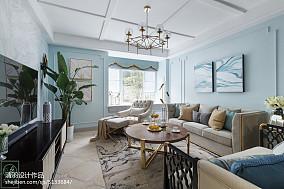 精致77平美式三居装修图片三居美式经典家装装修案例效果图