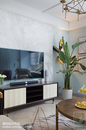 面积103平美式三居客厅实景图片三居美式经典家装装修案例效果图