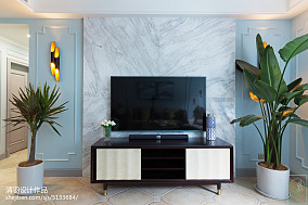 优雅70平美式三居设计美图三居美式经典家装装修案例效果图