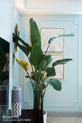精选92平米三居客厅美式效果图片欣赏三居美式经典家装装修案例效果图