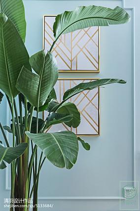 2018精选101平米三居客厅美式装修欣赏图片大全家装装修案例效果图