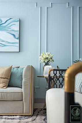 2018精选面积104平美式三居客厅装修欣赏图片大全家装装修案例效果图