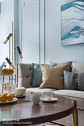 悠雅107平美式三居客厅效果图三居美式经典家装装修案例效果图