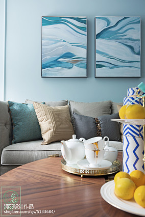 浪漫130平美式三居客厅实拍图三居美式经典家装装修案例效果图
