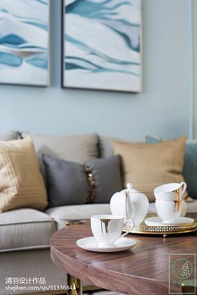简洁91平美式三居客厅装饰图片三居美式经典家装装修案例效果图