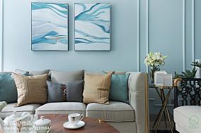 精美109平米三居客厅美式装修实景图片三居美式经典家装装修案例效果图