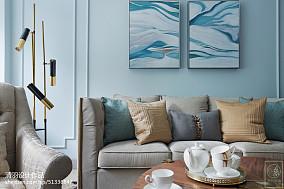 精选大小105平美式三居客厅装修效果图三居美式经典家装装修案例效果图