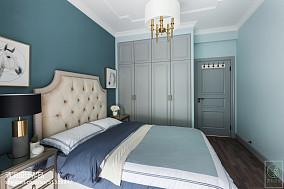 精选95平米三居卧室美式实景图片欣赏三居美式经典家装装修案例效果图