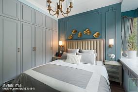 精美三居卧室美式装修设计效果图三居美式经典家装装修案例效果图