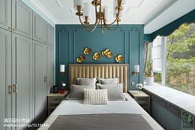 精选104平米三居卧室美式装修设计效果图片欣赏三居美式经典家装装修案例效果图