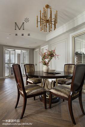 热门三居餐厅美式装修设计效果图片大全三居美式经典家装装修案例效果图