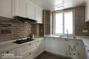 精美美式三居厨房装修效果图三居美式经典家装装修案例效果图