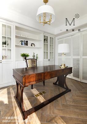 简洁108平美式三居书房效果图三居美式经典家装装修案例效果图