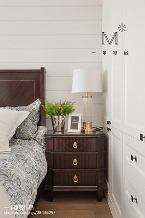 2018面积94平美式三居卧室装修设计效果图片欣赏家装装修案例效果图