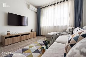 精选面积99平北欧三居客厅实景图片三居北欧极简家装装修案例效果图