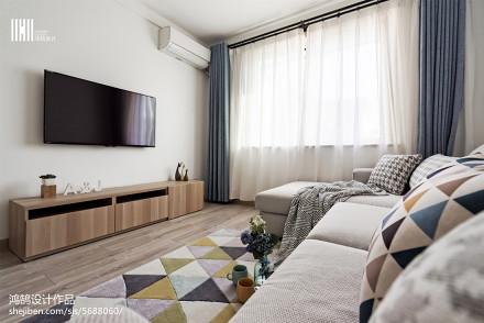 精选面积99平北欧三居客厅实景图片