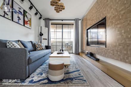 精美大小100平北欧三居客厅装饰图片三居北欧极简家装装修案例效果图