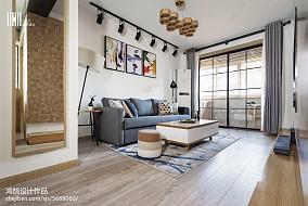 平米三居客厅北欧装修效果图片欣赏三居北欧极简家装装修案例效果图