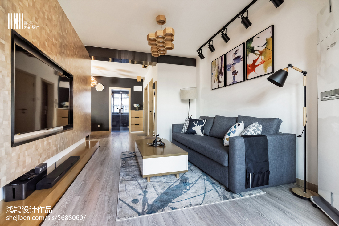 2018精选大小101平北欧三居客厅装饰图片客厅北欧极简客厅设计图片赏析