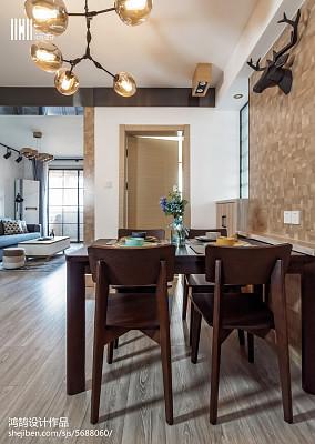浪漫91平北欧三居餐厅装潢图三居北欧极简家装装修案例效果图