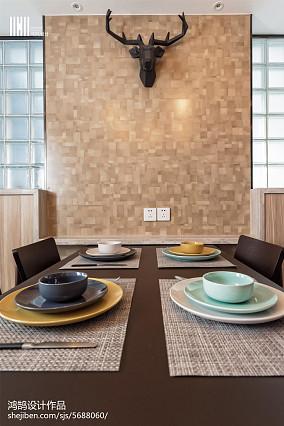 精美北欧三居餐厅效果图片家装装修案例效果图