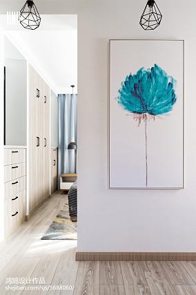 平米三居卧室北欧装饰图片三居北欧极简家装装修案例效果图