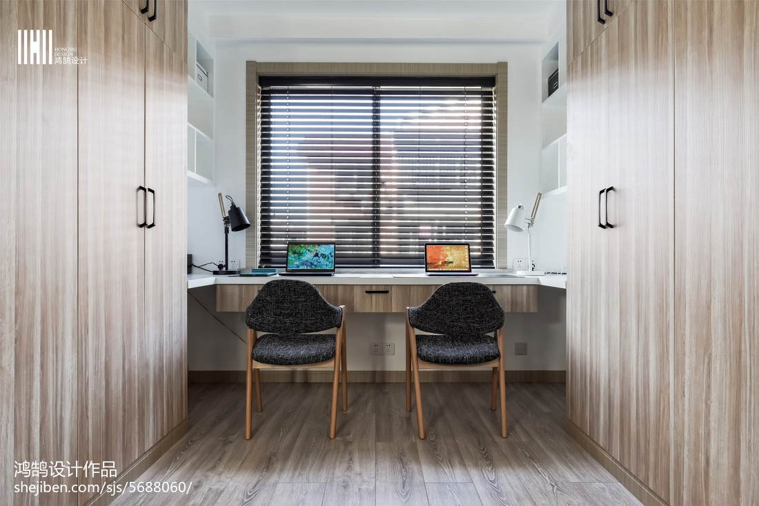 精选三居书房北欧装修设计效果图功能区木地板北欧极简功能区设计图片赏析