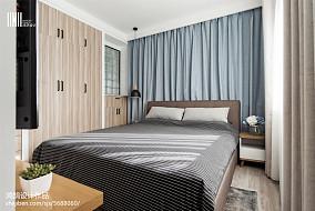 2018面积100平北欧三居卧室设计效果图