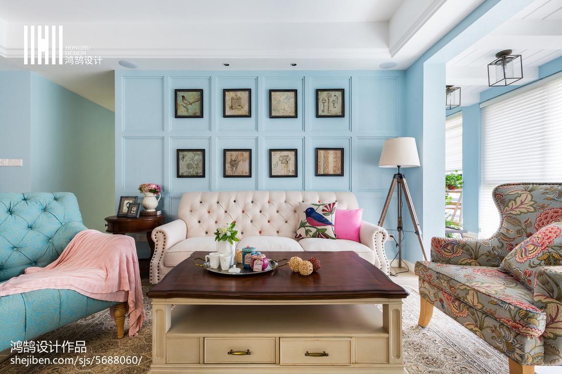 热门面积100平美式三居客厅装修图片大全客厅美式经典客厅设计图片赏析