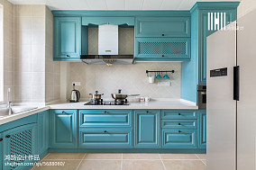悠雅113平美式三居装修美图餐厅美式经典厨房设计图片赏析