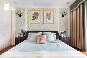 面积96平美式三居卧室装修欣赏图片