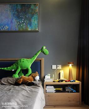 热门95平米三居卧室简约装修图