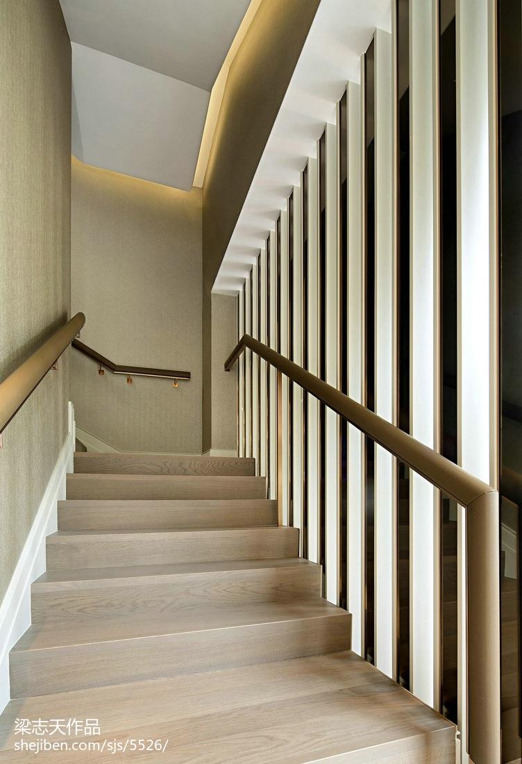 家装现代风格别墅楼梯设计效果图现代简约设计图片赏析