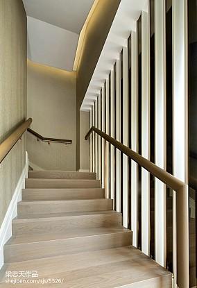 家装现代风格别墅楼梯设计效果图