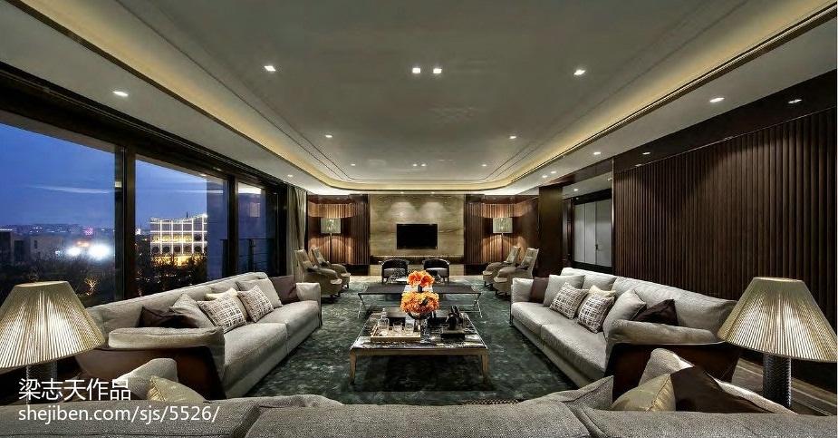 家居混搭风格样板房客厅装修客厅潮流混搭客厅设计图片赏析