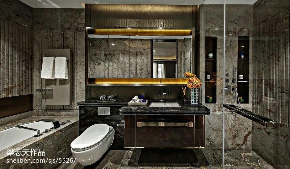 质感混搭风格样板房卫浴设计潮流混搭设计图片赏析