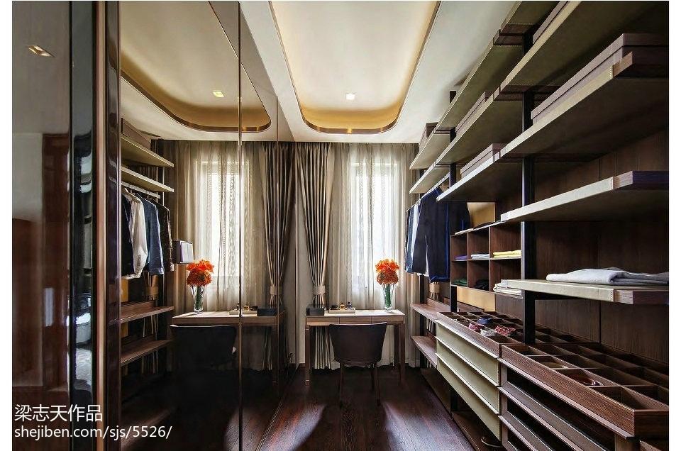 家居混搭风格样板房衣帽间设计潮流混搭设计图片赏析