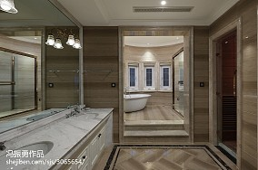 精美大小125平别墅卫生间美式装修效果图片