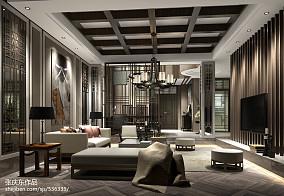 精美140平方中式别墅客厅装饰图片