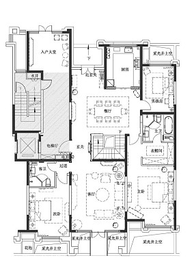 大气338平法式样板间装修案例样板间欧式豪华家装装修案例效果图