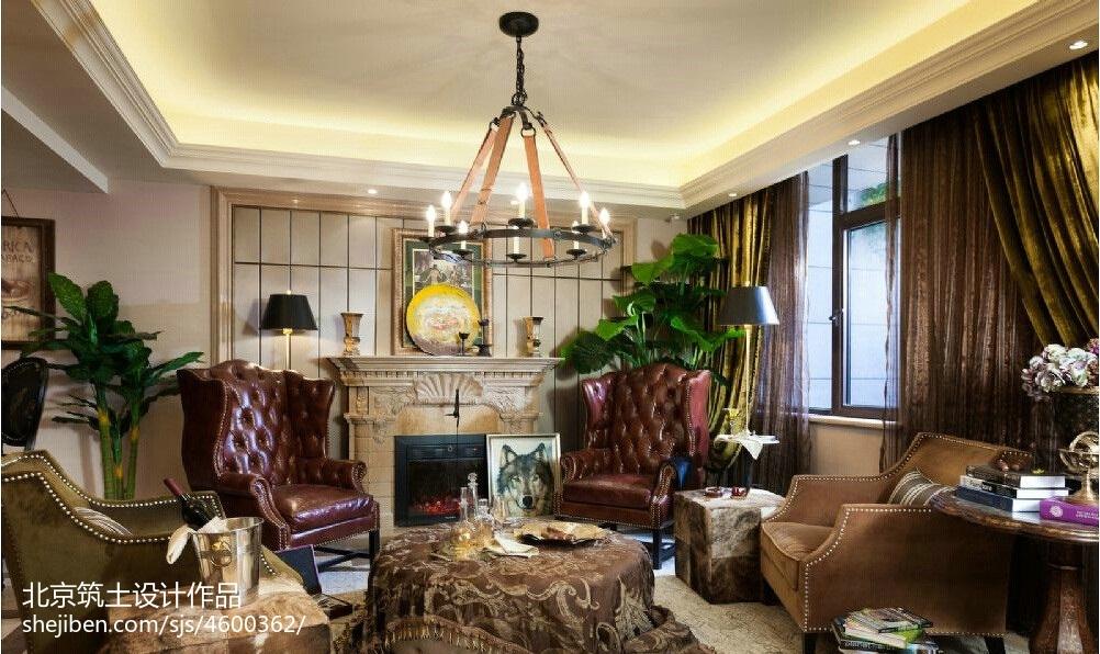 法式风格样板间壁炉效果图欧式豪华设计图片赏析