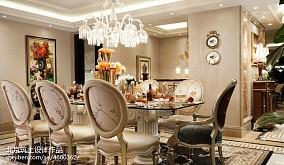 法式风格样板间餐厅设计样板间欧式豪华家装装修案例效果图