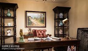 2018书房装修图片样板间欧式豪华家装装修案例效果图
