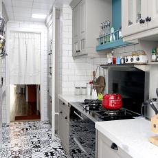 质朴78平美式二居厨房装修设计图