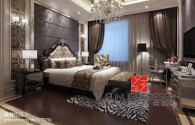 低调卧室小窗户窗帘效果图