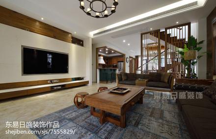 新中式风格别墅背景墙装修