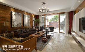 精选别墅客厅中式实景图片欣赏别墅豪宅中式现代家装装修案例效果图