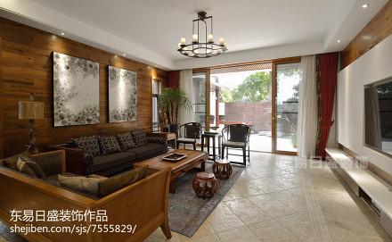 精选别墅客厅中式实景图片欣赏